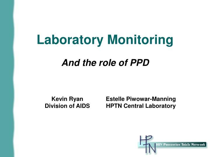 laboratory monitoring n.
