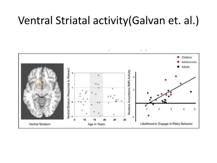 Ventral Striatal activity(Galvan et. al.)