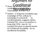 argument for conditional scrutability