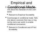 empirical and conditional mode