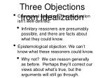 three objections from idealization