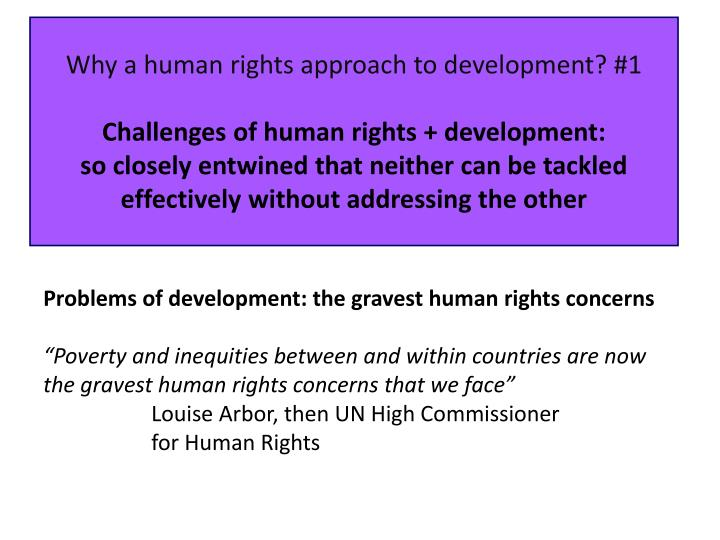 Why a human rights approach to development? #1