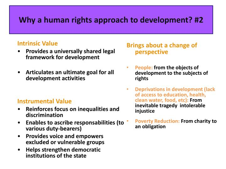 Why a human rights approach to development? #2