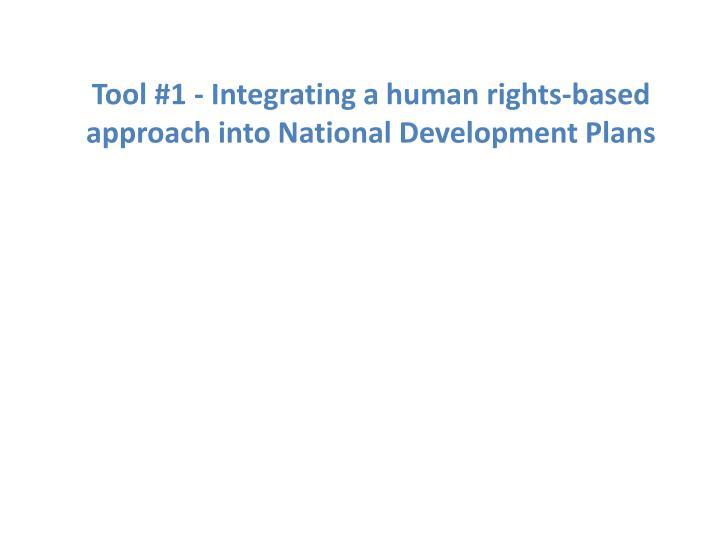Tool #1 - Integrating