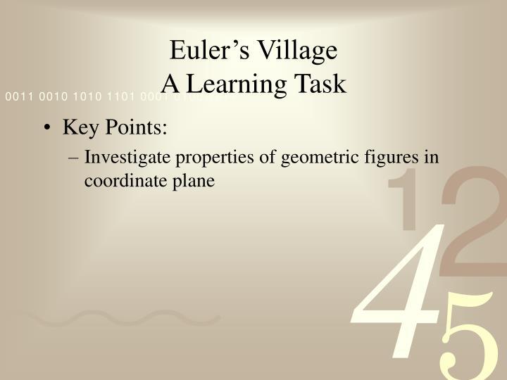 Euler's Village