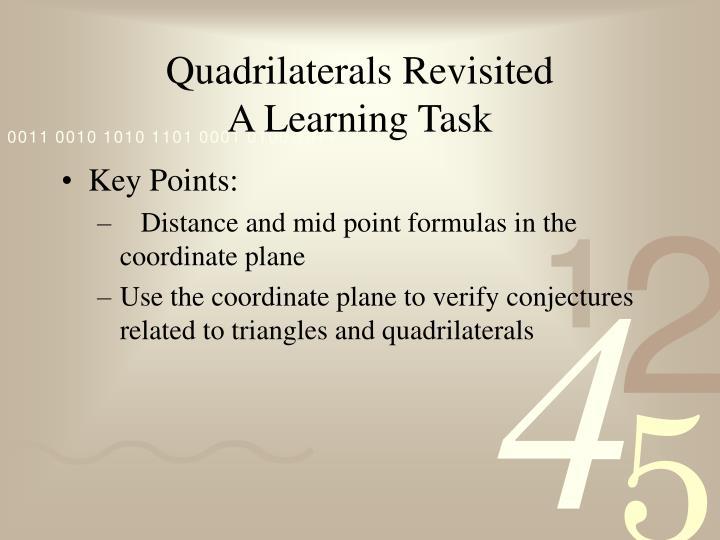 Quadrilaterals Revisited
