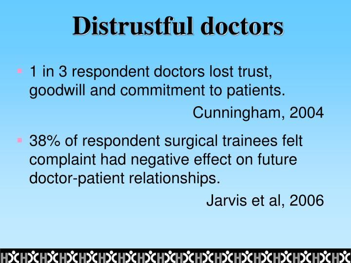 Distrustful doctors