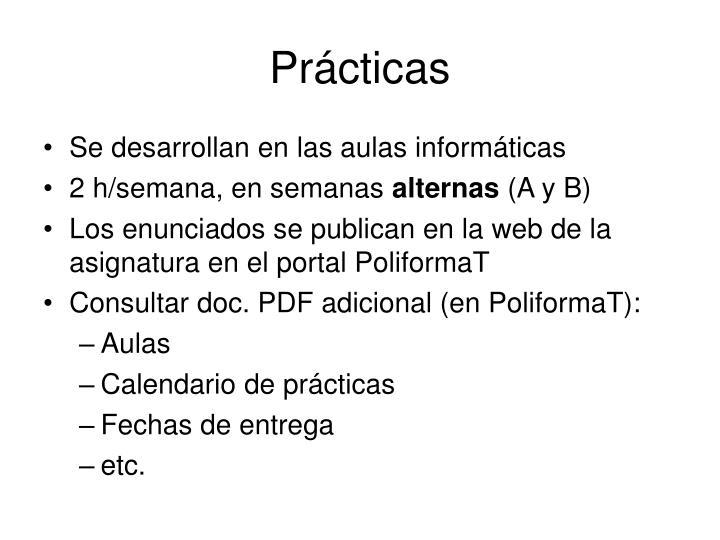 Prácticas