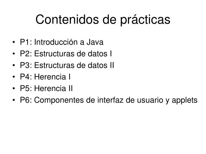 Contenidos de prácticas