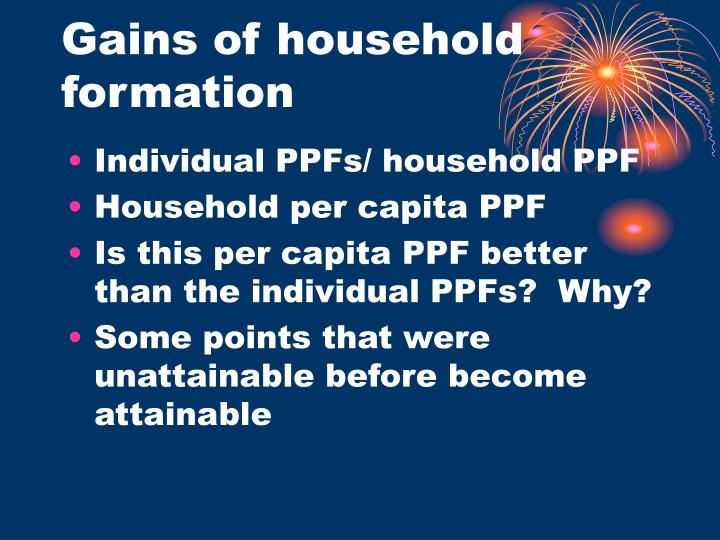 Gains of household formation