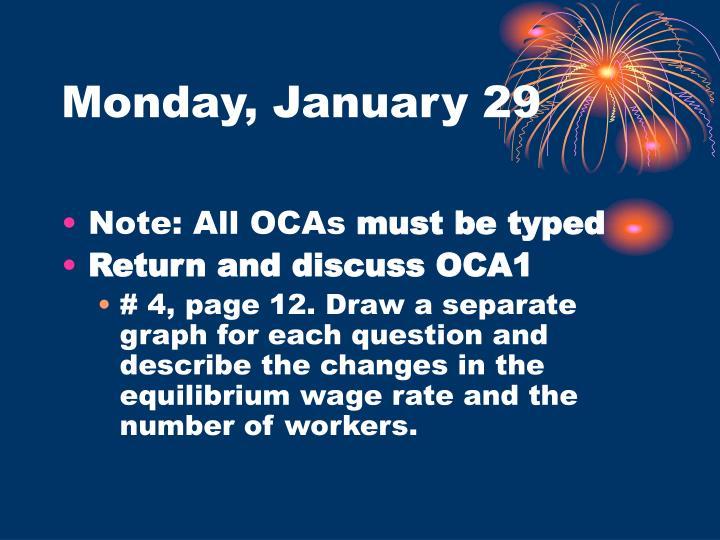Monday january 29