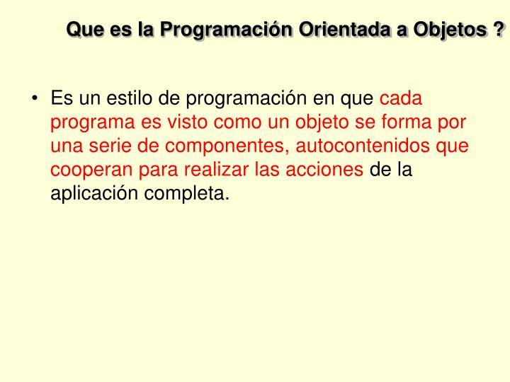 Que es la programaci n orientada a objetos