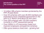 introduction the current position of the ppf