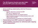 the db pensions system post april 2005 how the ppf works with other bodies