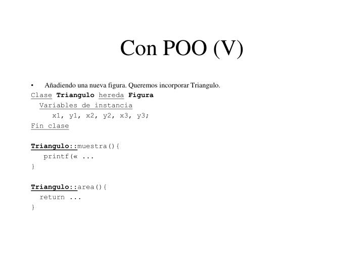 Con POO (V)