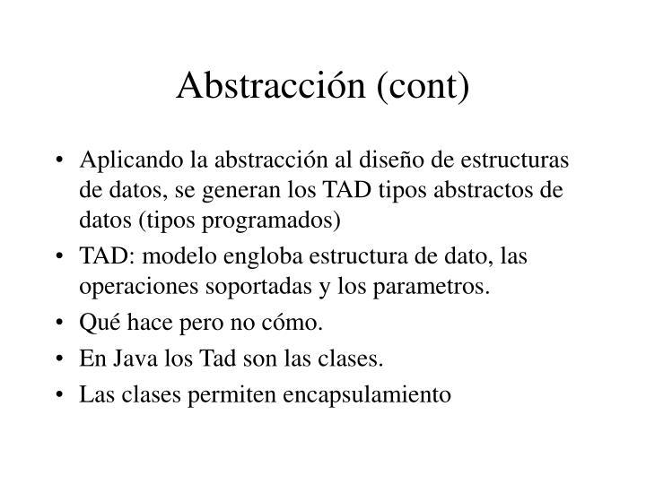 Abstracción (cont)