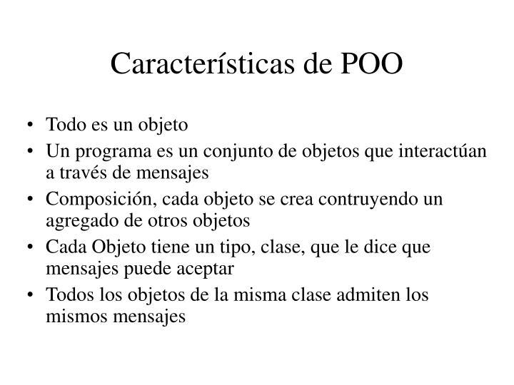 Características de POO