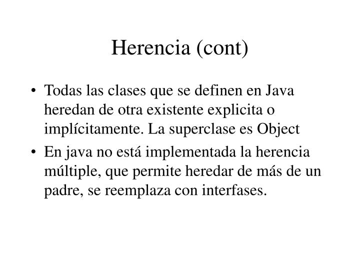Herencia (cont)