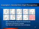 example i handwritten digit recognition