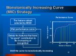 monotonically increasing curve mic strategy