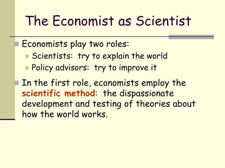 The economist as scientist