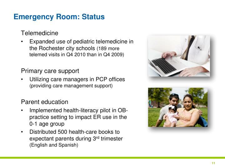 Emergency Room: Status