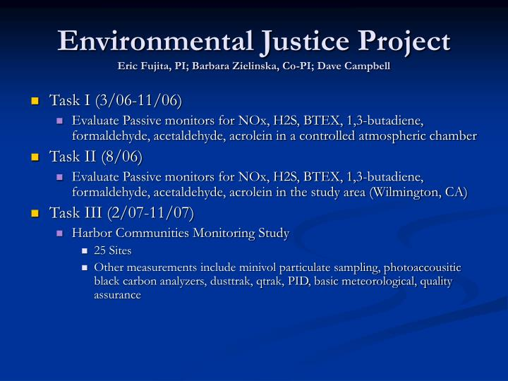 Environmental Justice Project