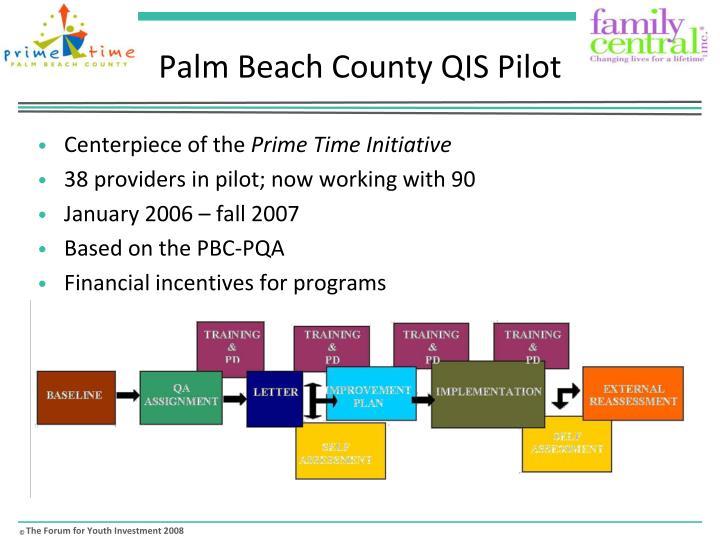 Palm Beach County QIS Pilot