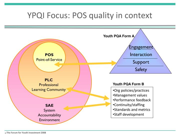 YPQI Focus: POS quality in context