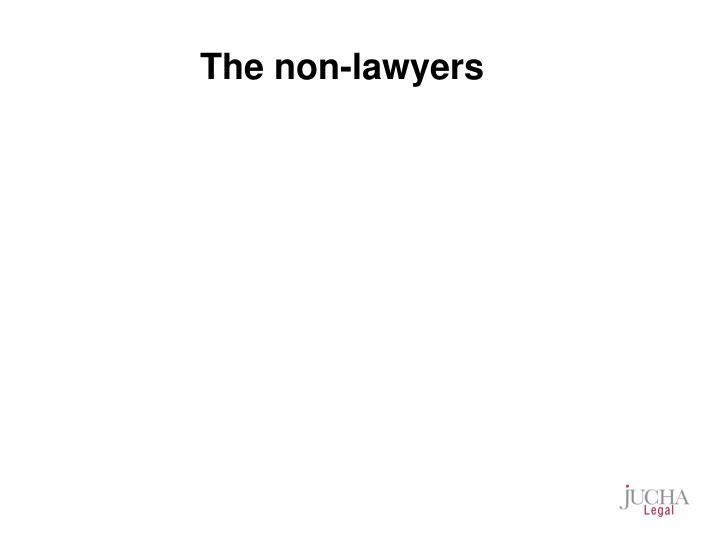 The non-lawyers