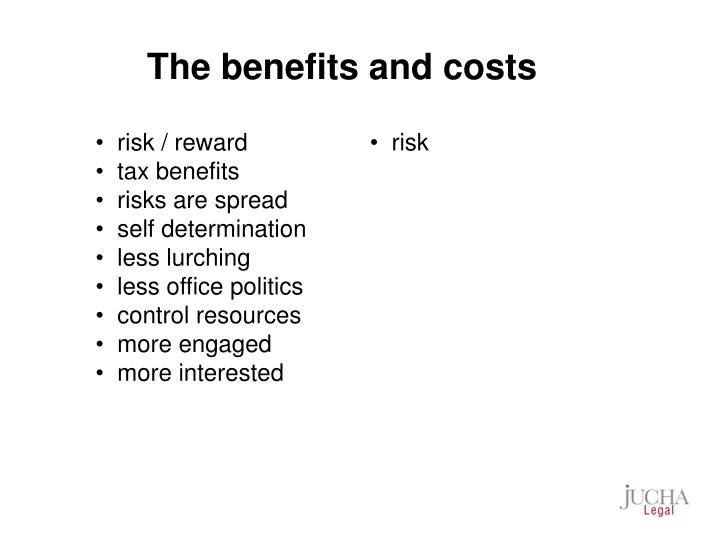 The benefits and costs