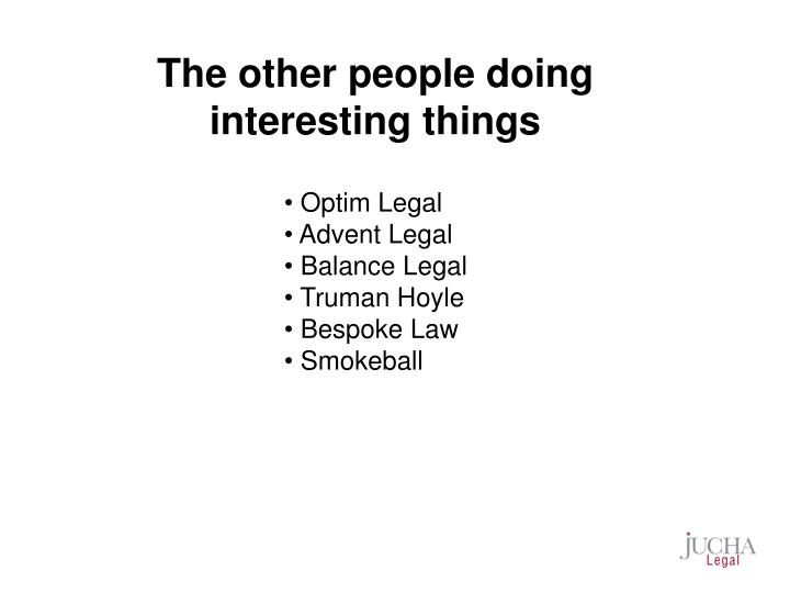 The other people doing