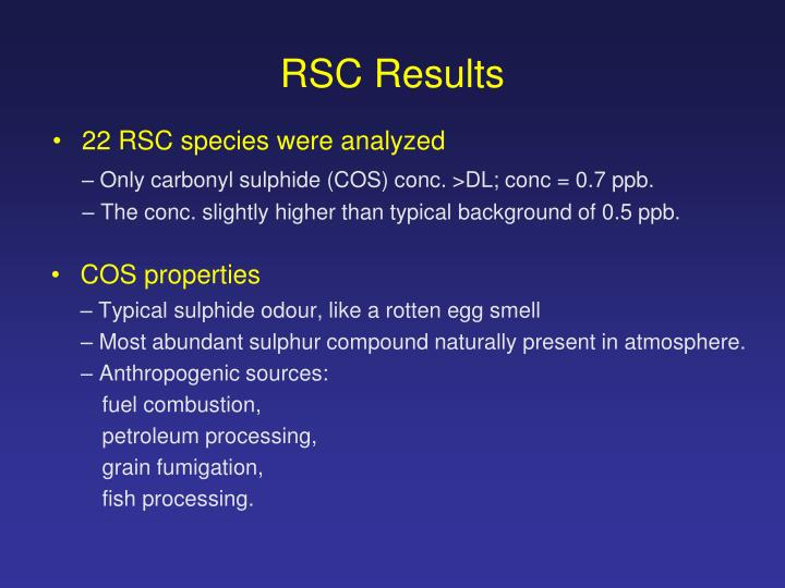 RSC Results