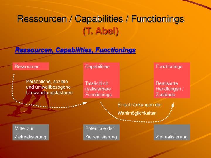 Ressourcen / Capabilities / Functionings
