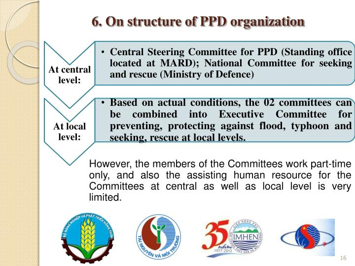 6. On structure of PPD organization