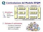 l articolazione del modello efqm