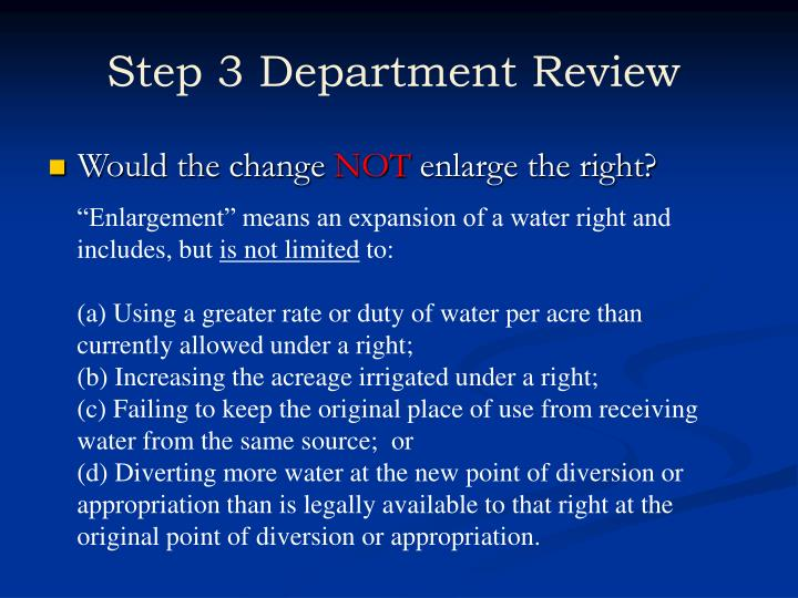 Step 3 Department Review
