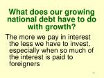 what does our growing national debt have to do with growth