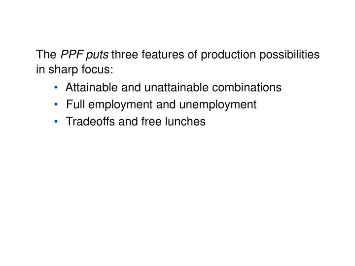 3.1 PRODUCTION POSSIBILITIES