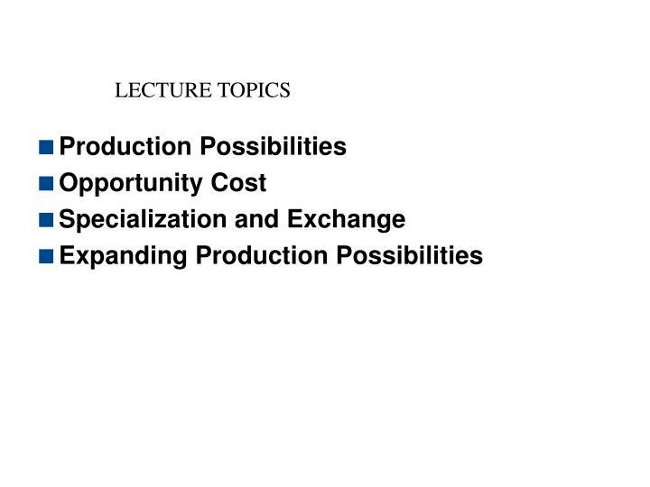 Lecture topics