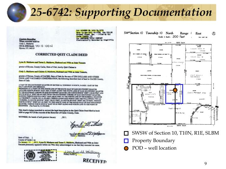 25-6742: Supporting Documentation