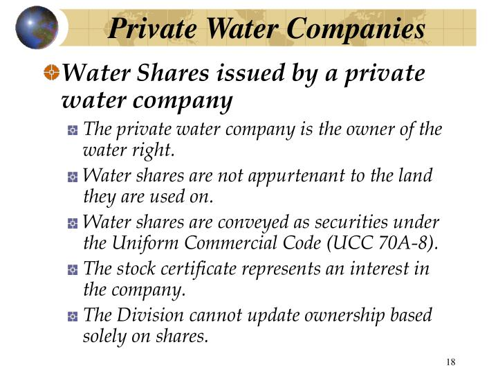 Private Water Companies