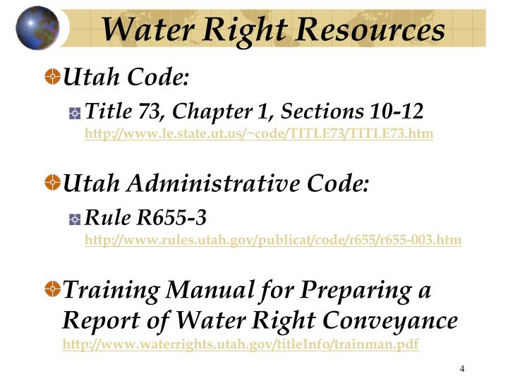 Water Right Resources