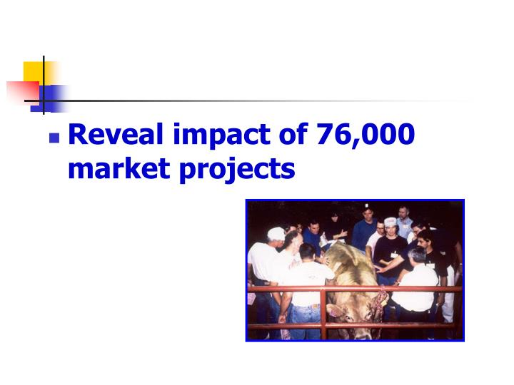 Reveal impact of 76,000 market projects