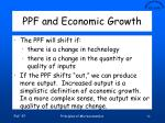 ppf and economic growth