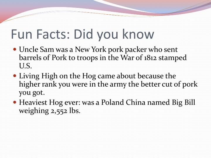 Fun Facts: Did you know