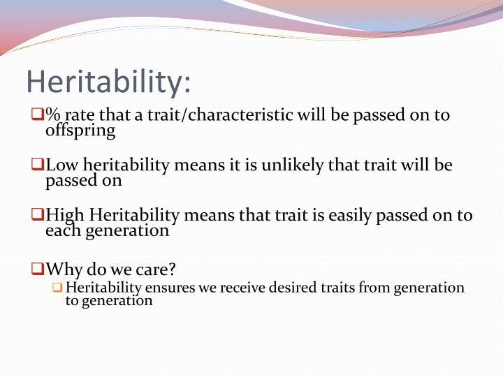 Heritability: