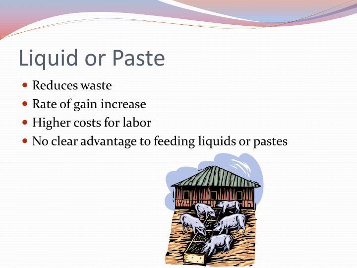 Liquid or Paste