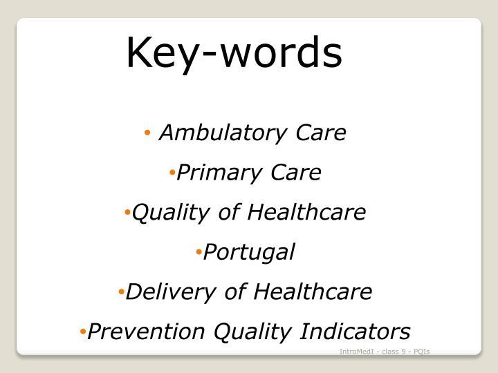 Key-words