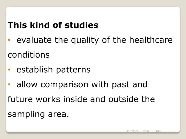 This kind of studies